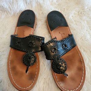 Jack Roger's black sandals thongs